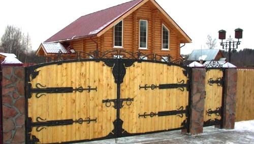 самодельные ворота для дачи
