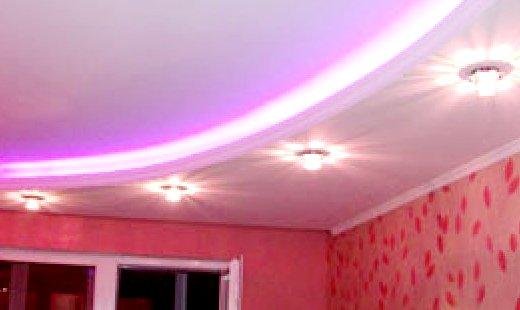 светодиодная лента для освещения потолка