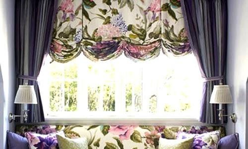 изображение цветов на шторах