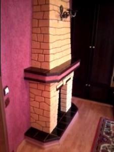 имитация камина в квартире