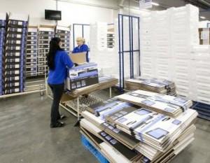 размещение продукции на складах