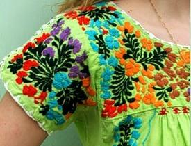 вышивка на платье