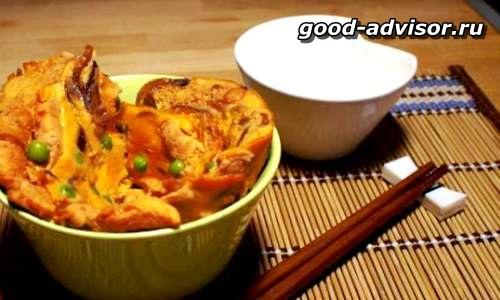 Корейское острое блюдо из баклажан